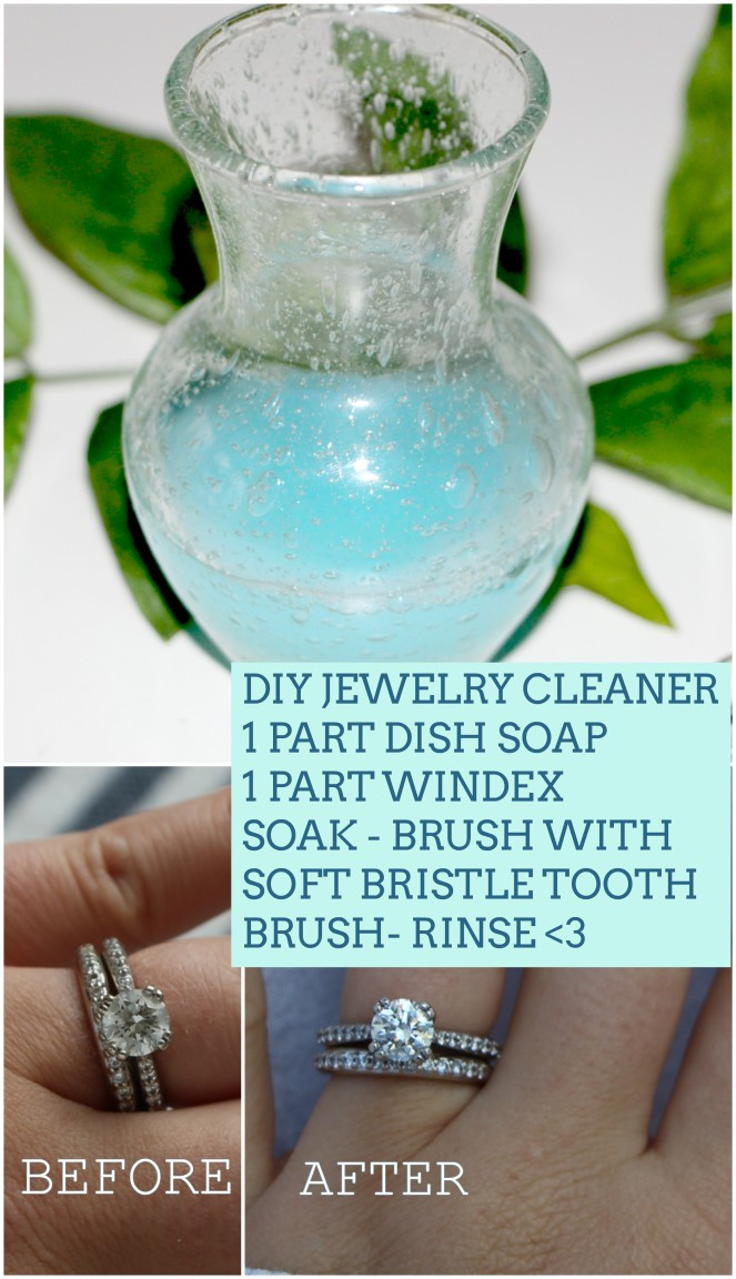 diy jewelry cleaner .